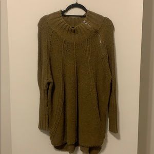 Free People Spin Around Poncho Top - Forest Green